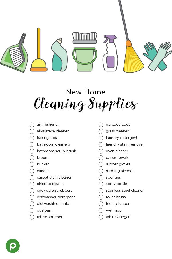 Printable Cleaning Supplies Checklist