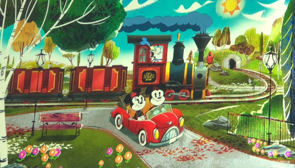 Mickey and Minnie's Runaway Railway Concept Art Disney