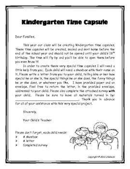 Nice For The Past Several Years Iu0027ve Created A Time Capsule With My Kindergarten  Students. I Write The Parents A Letter And I Ask For A Shoe Box That Will  Serve ...