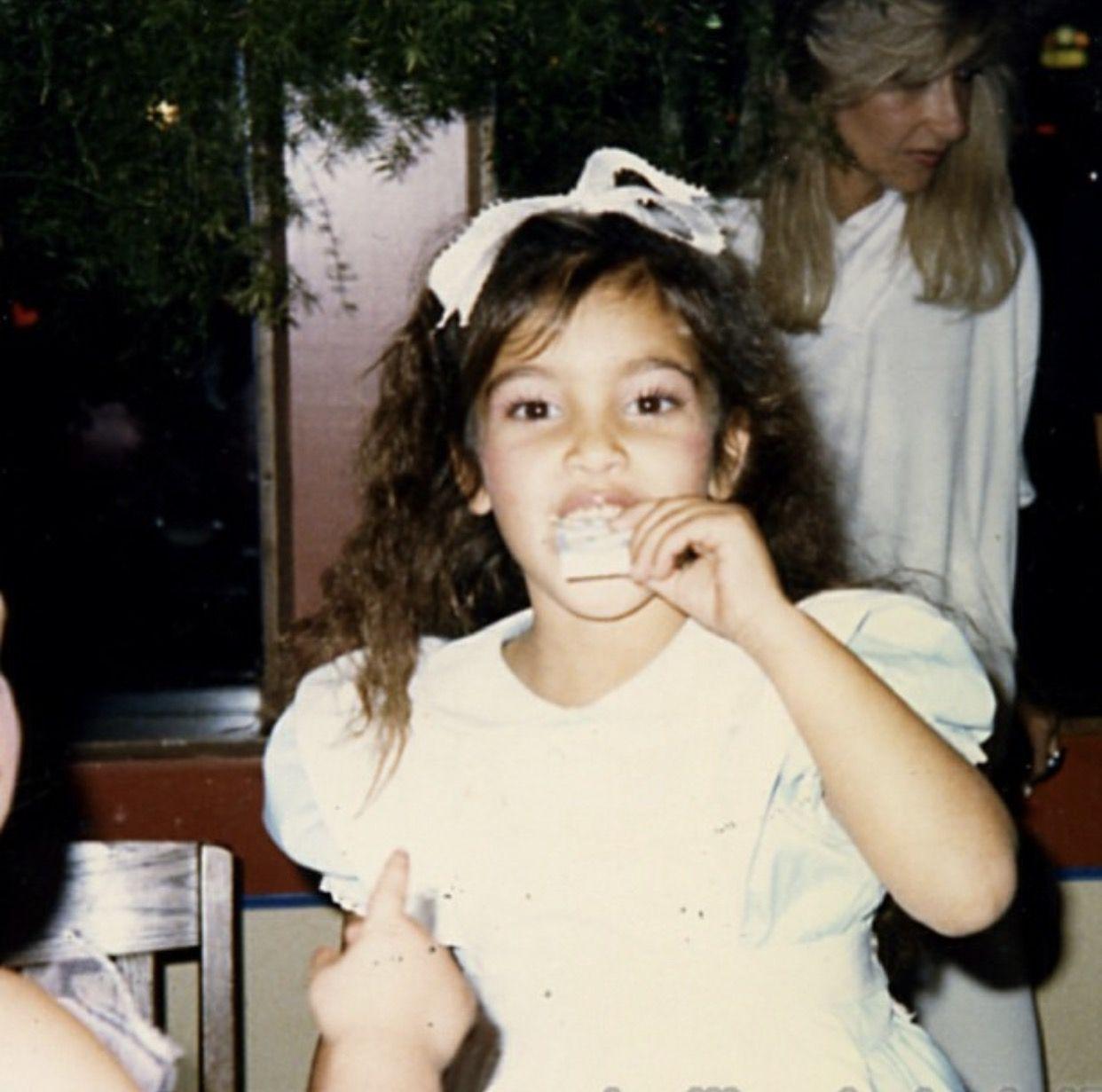 Kimkardashian Flashback Friday me at  or  years old  Kim