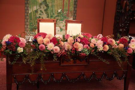 一会 ウエディングの花 の画像 エキサイトブログ Blog 秋 結婚式 装花 結婚式 テーブル 秋 結婚式 装花