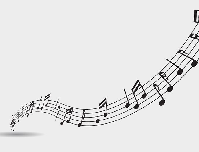 Music Notes Background Vector Freebie Free Vectors Music Notes