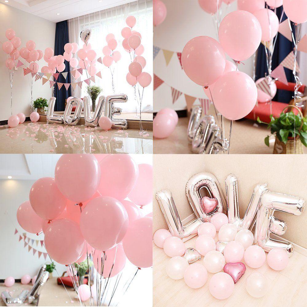 Hochzeitsdeko in rosa und weiss. Luftballons rosa weiß