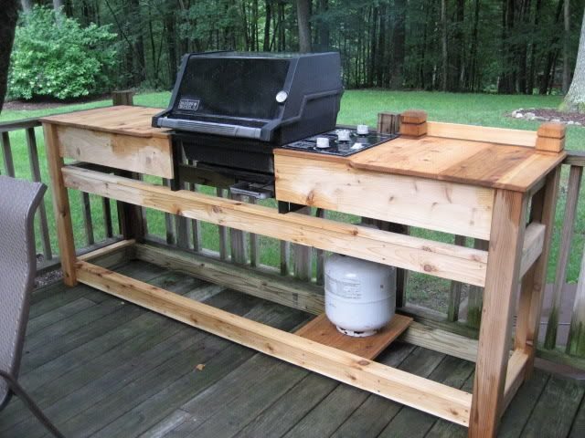 Custom weber grill table google search custom grilling for Outdoor cooking station plans