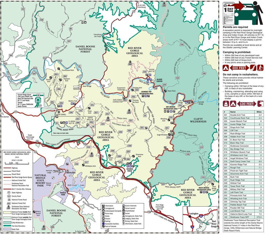 Red River Gorge Hiking Map Red River Gorge hiking♥ Cant wait!!!!!!!! | Hiking ♡ | Red river