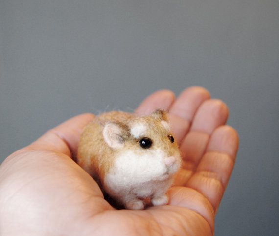 Robo Dwarf Hamster Realistic Needle Felted Hamster By Willane