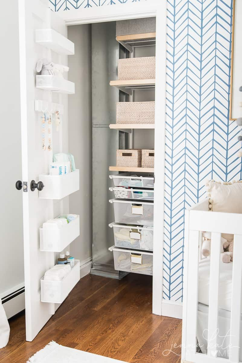 Baby S Organized Closet Nursery And Kids Rooms