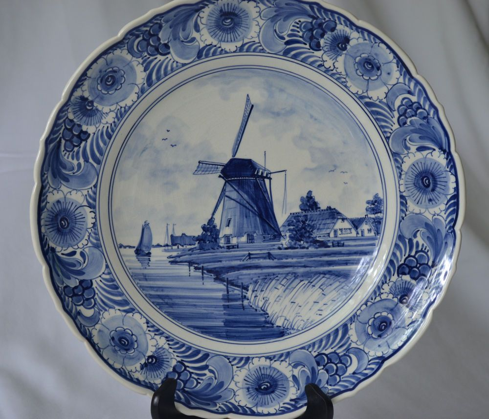 Vintage Delft Blue Handpainted Plate Especially Made For Klm Ebay Hand Painted Plates Hand Painted Hand Painted Signs