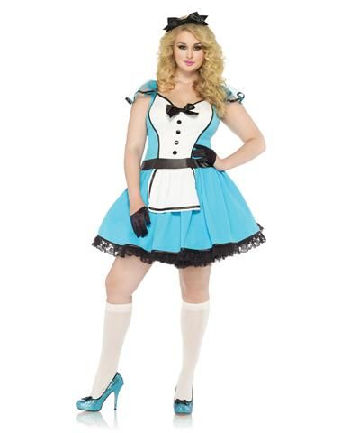 Storybook Alice Adult Womens Plus Size Costume Halloween Costume - halloween costume ideas plus size