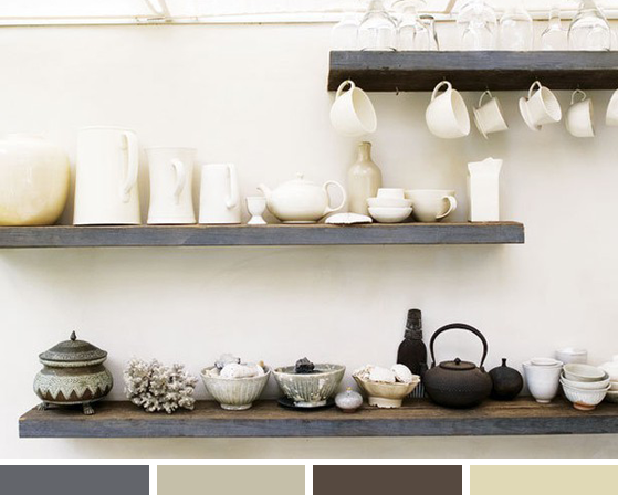 Color Inspiration Neutral Dishware *Lovely Clusters