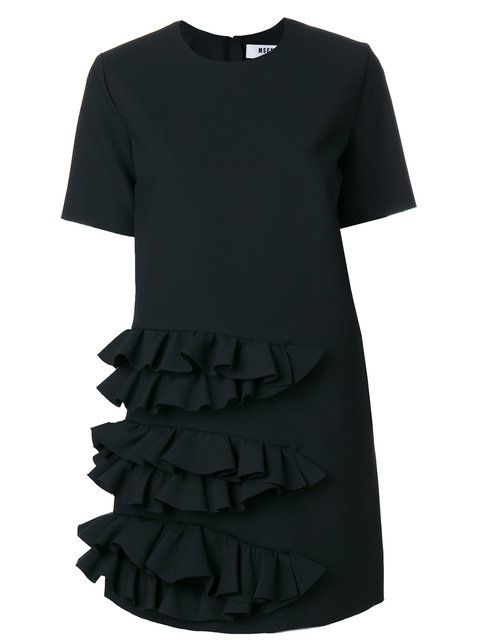 MSGM asymmetric ruffle dress