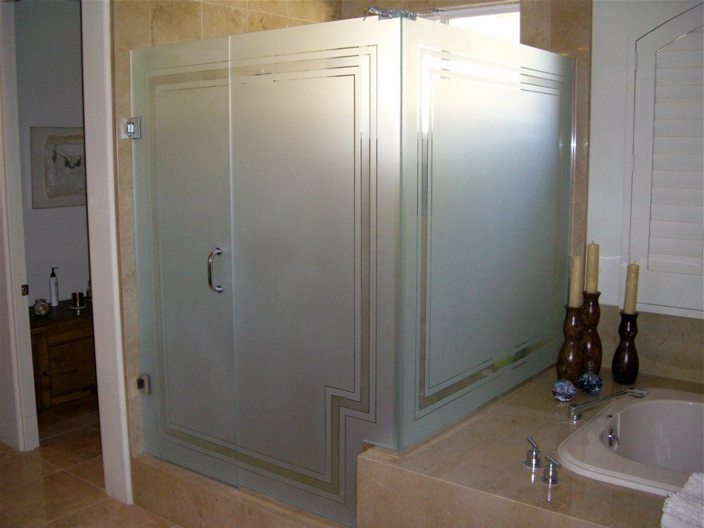 frosted glass shower panels for privacy or decoration in your bathroom great article walks you. Black Bedroom Furniture Sets. Home Design Ideas