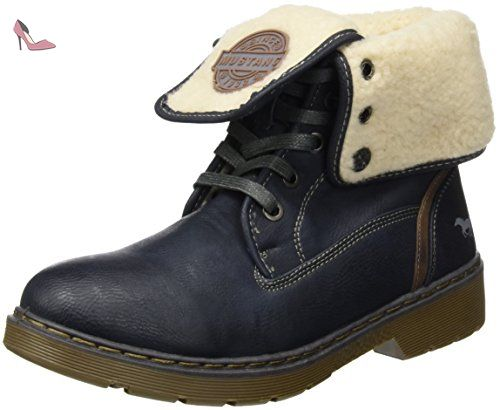 Mustang 1235-602, Bottes Classiques Femme, Bleu (820 Navy), 38 EU - Chaussures mustang (*Partner-Link)