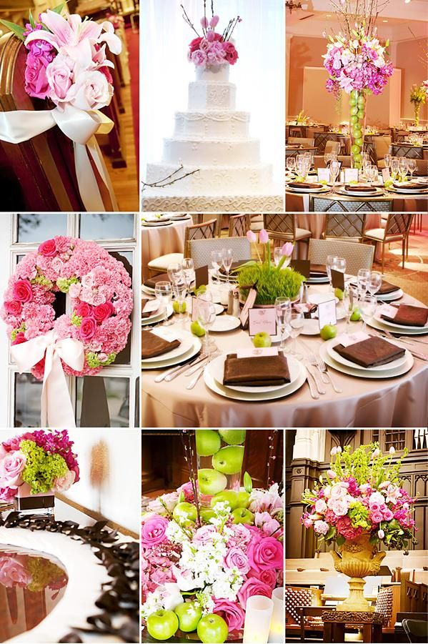 Green Pink Brown Wedding Theme Wedding Prosource Pink Theme