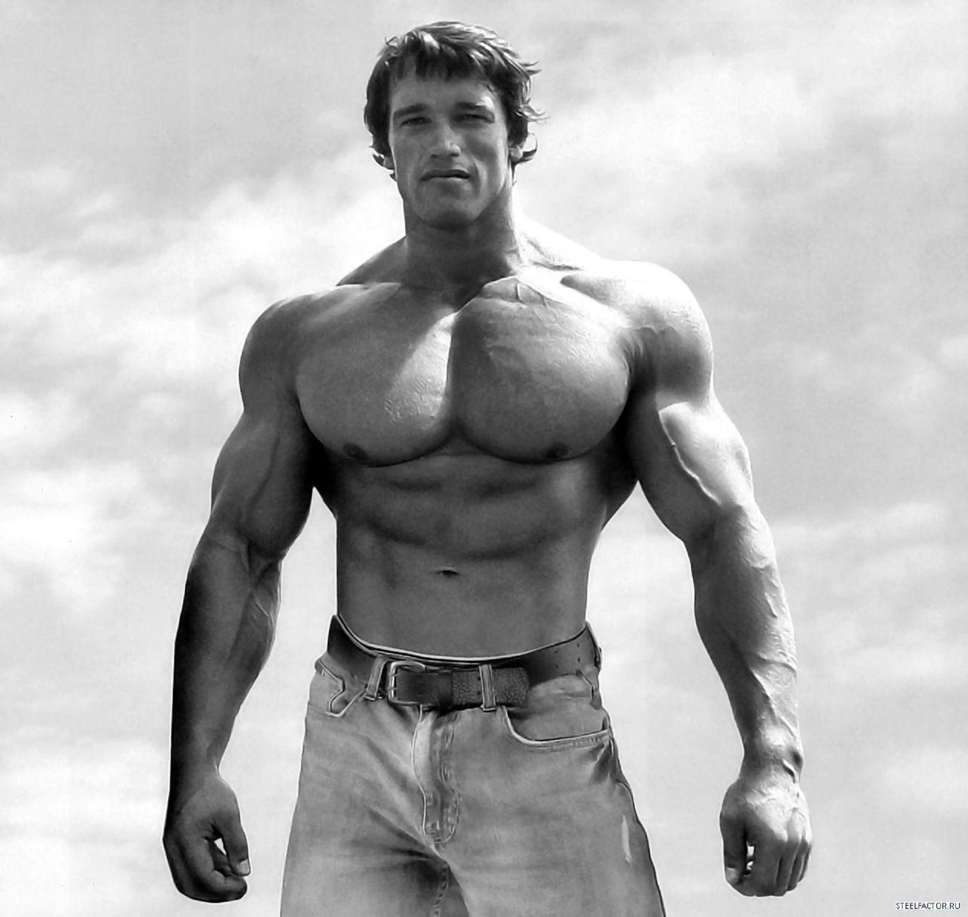 Arnold Schwarzenegger, Body-Building, Black And White ...