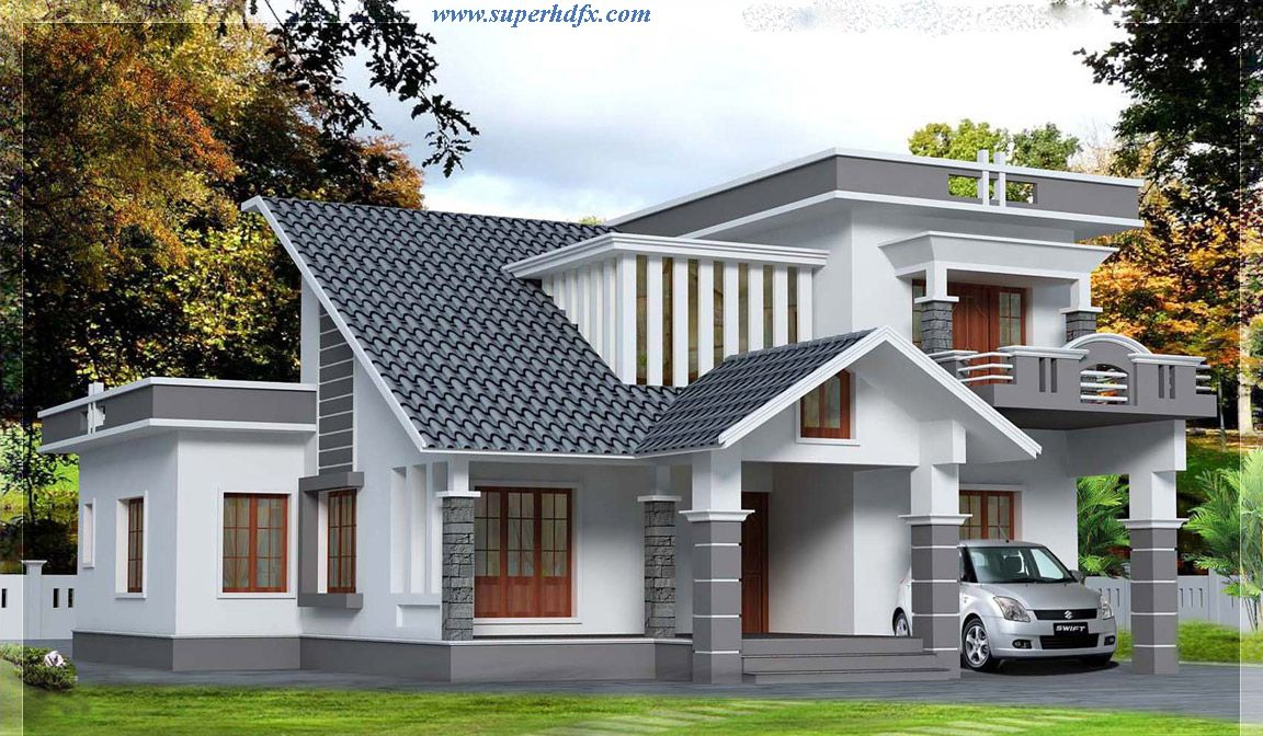 Kerala house designs front 1152 672 house for New model houses in kerala