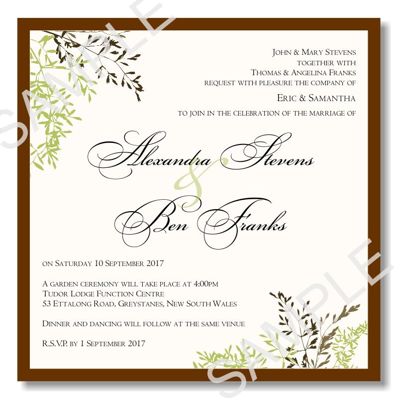 Wedding Invitation Layout And Wording: Budget Wedding Invitations