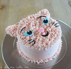 DIY Furry Cat Birthday Cake Make Me Cake Me Cakes Pinterest