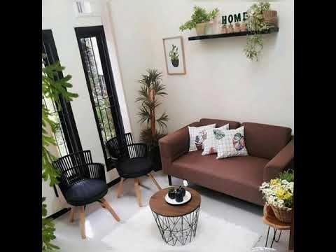 dekorasi ruang tamu kecil, simple, minimalis!! - youtube