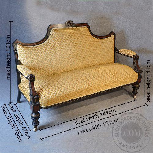 Best Antique Lounge Suite Aesthetic Movement Ebonized Three 400 x 300