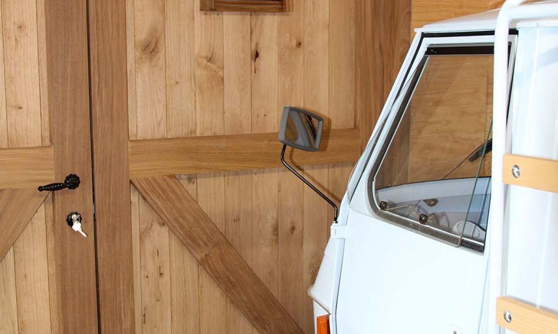 Aanbouwcarport in eik met berging Woodproject Carport