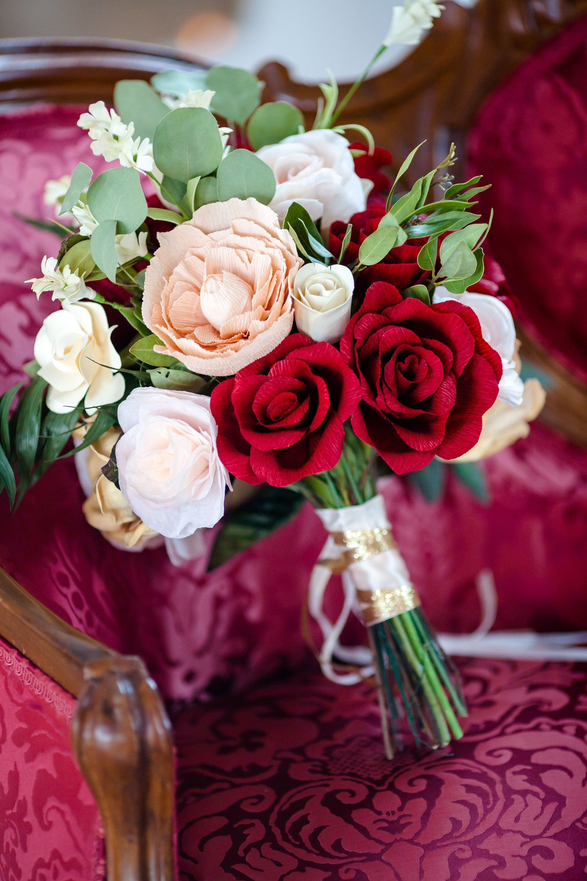Red And Blush Wedding Flowers Made By Felicity Allyse Floral