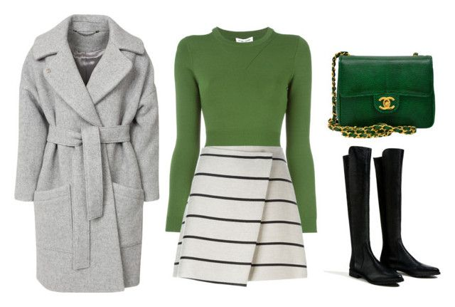 """""""Без названия #1460"""" by losageles ❤ liked on Polyvore featuring Piel Leather, FWSS, Opening Ceremony, MSGM and Chanel"""