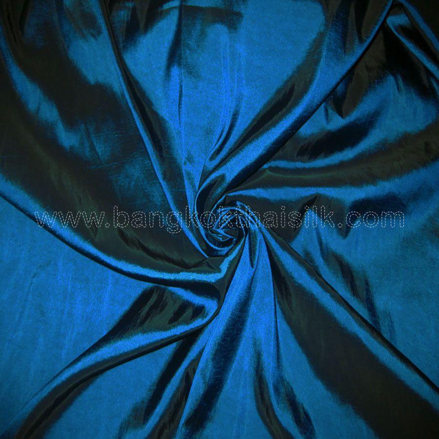 Teal blue 100% silk dupioni fabric 54\