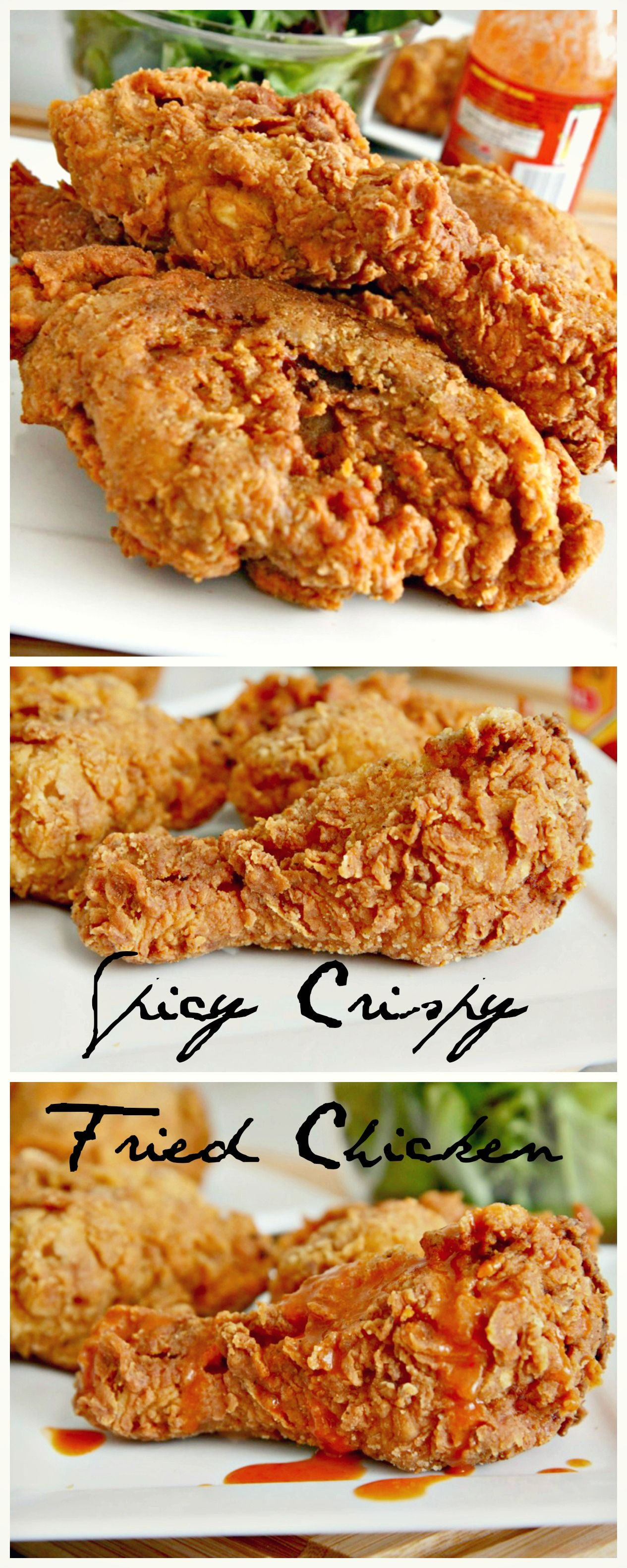 Crispy Spicy Fried Chicken Recipe That S Full Of Cajun Flavor And Seasoned To Perfection A Buttermilk Brine E Chicken Recipes Spicy Fried Chicken Food Recipes