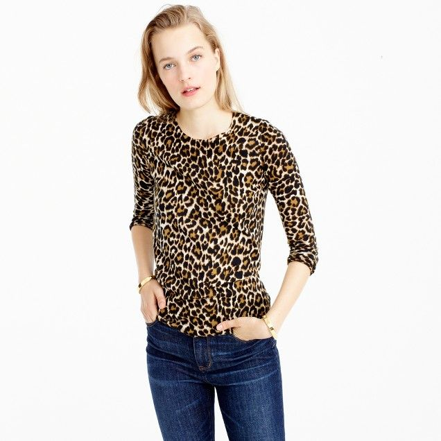 3472dc3bcb69 Tippi sweater in leopard print : Women Pullovers | J.Crew | Fall ...