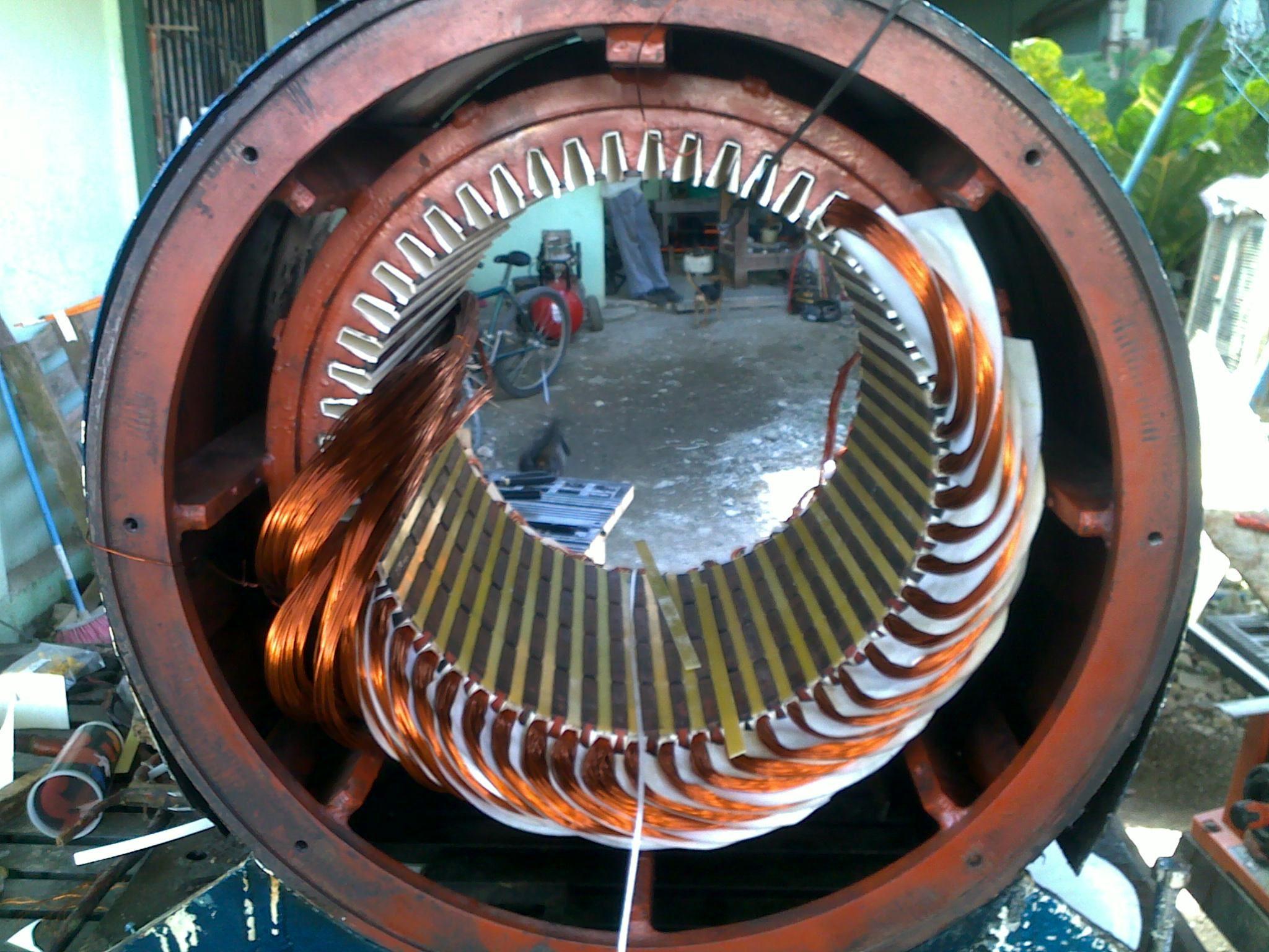 Estator Generador de 350KW Bobinado Imbricado Motores
