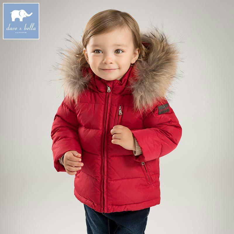 b38985e78 DB5989 dave bella invierno baby boys 2 color abajo niños de la chaqueta de  pato blanco