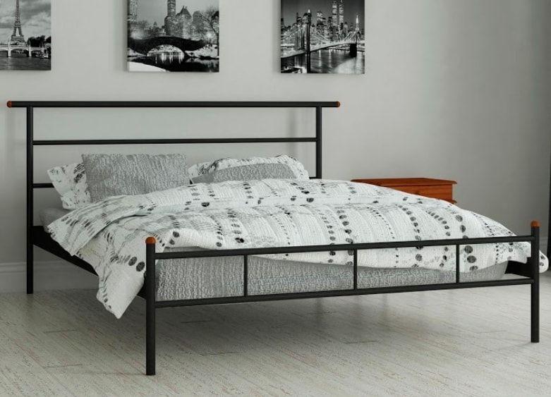 купить отличная добротная металлическая кровать диаз металлическая с