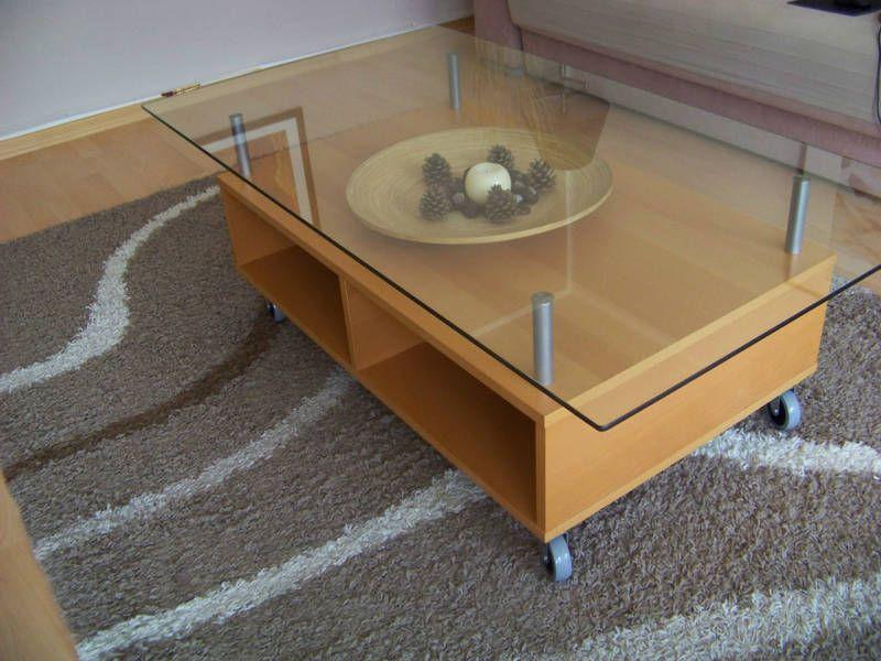 Eneryda mesa de centro madera vidrio medidas 135x75x45 - Tableros de madera medidas y precios ...