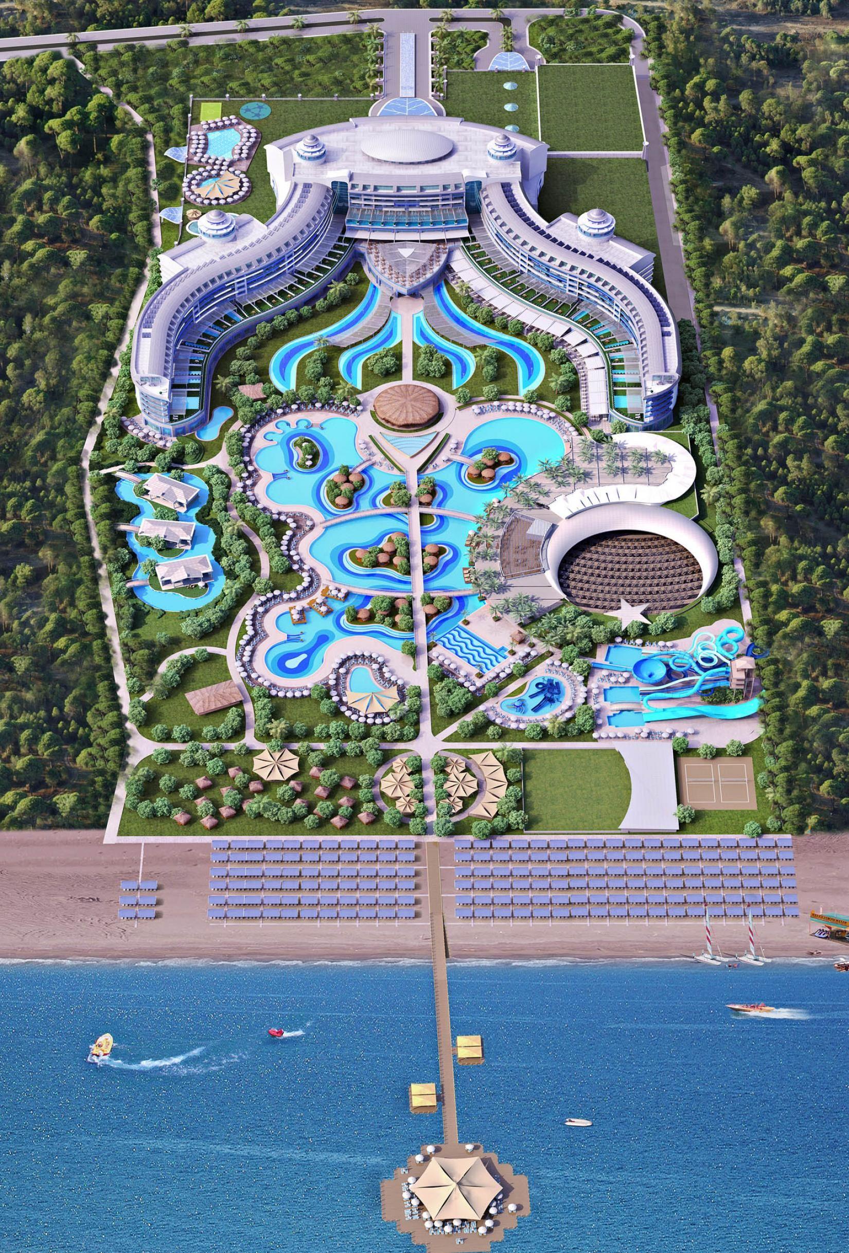 Https Visitantalya Com Sueno Hotels Deluxe Golf Belek 7 Nights 2x Golf Sueno Dunes Or Pi Resort Architecture Resort Design Plan Landscape Architecture Design