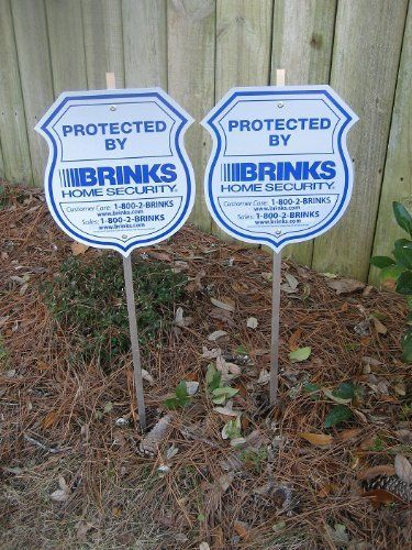 New Brinks Home Security Alarm System Yard Signs Brinks - Window stickers for home security