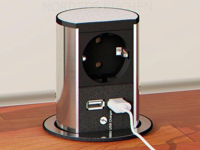 Bachmann Elevator 1x Schuko 2x USB Charger versenkbare Steckdose ...