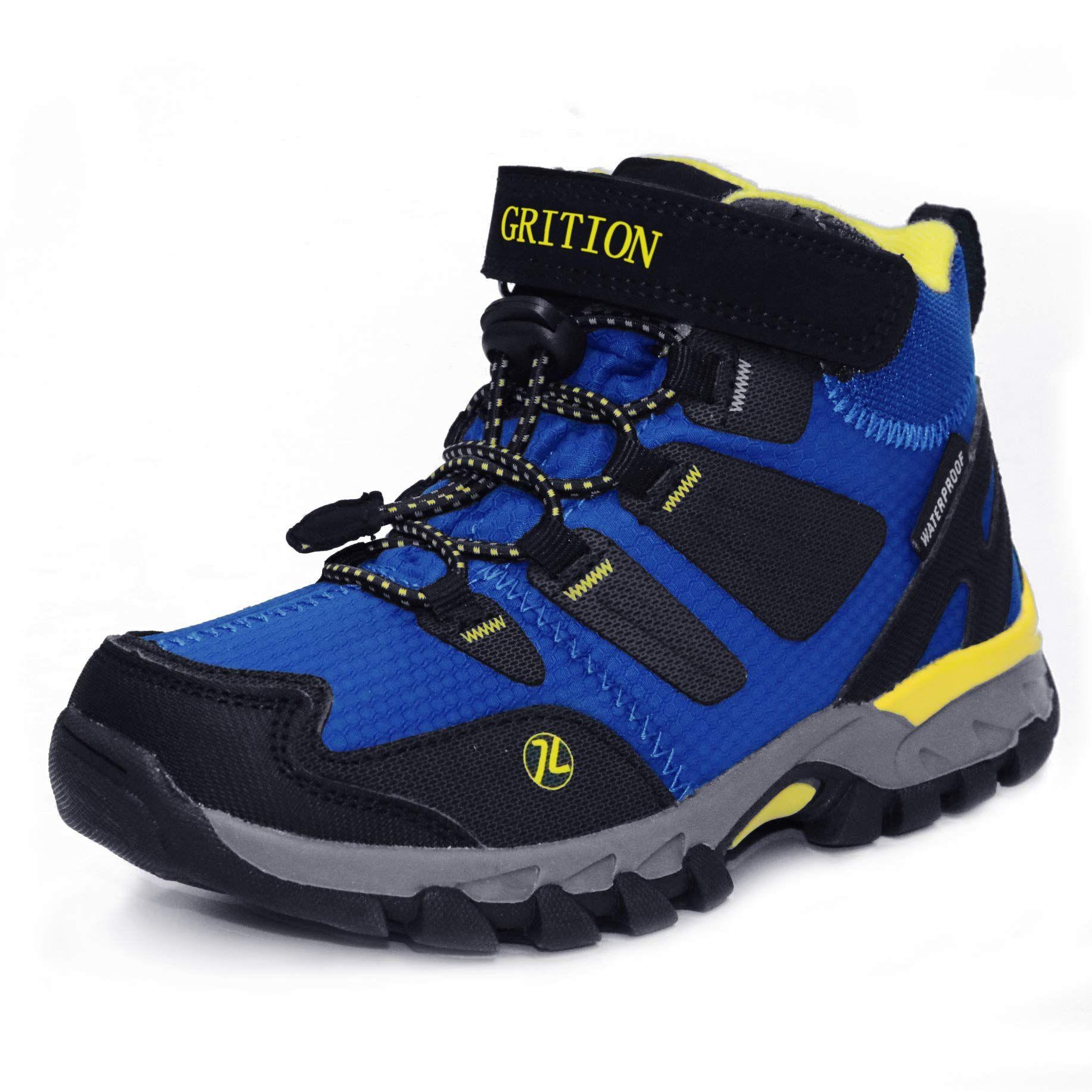 GRITION Kids Hiking Boots Boys Waterproof Winter Walking Boots Hook and  Loop School Shoes Anti Slip Unisex Ou…   Boys hiking boots, Kids hiking  boots, Walking boots