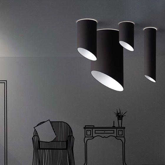 Black cylinder lights.