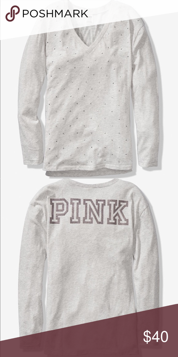 bf00407a9 PINK Bling grey long sleeve legging tee L Brand new with tags PINK Bling  grey long