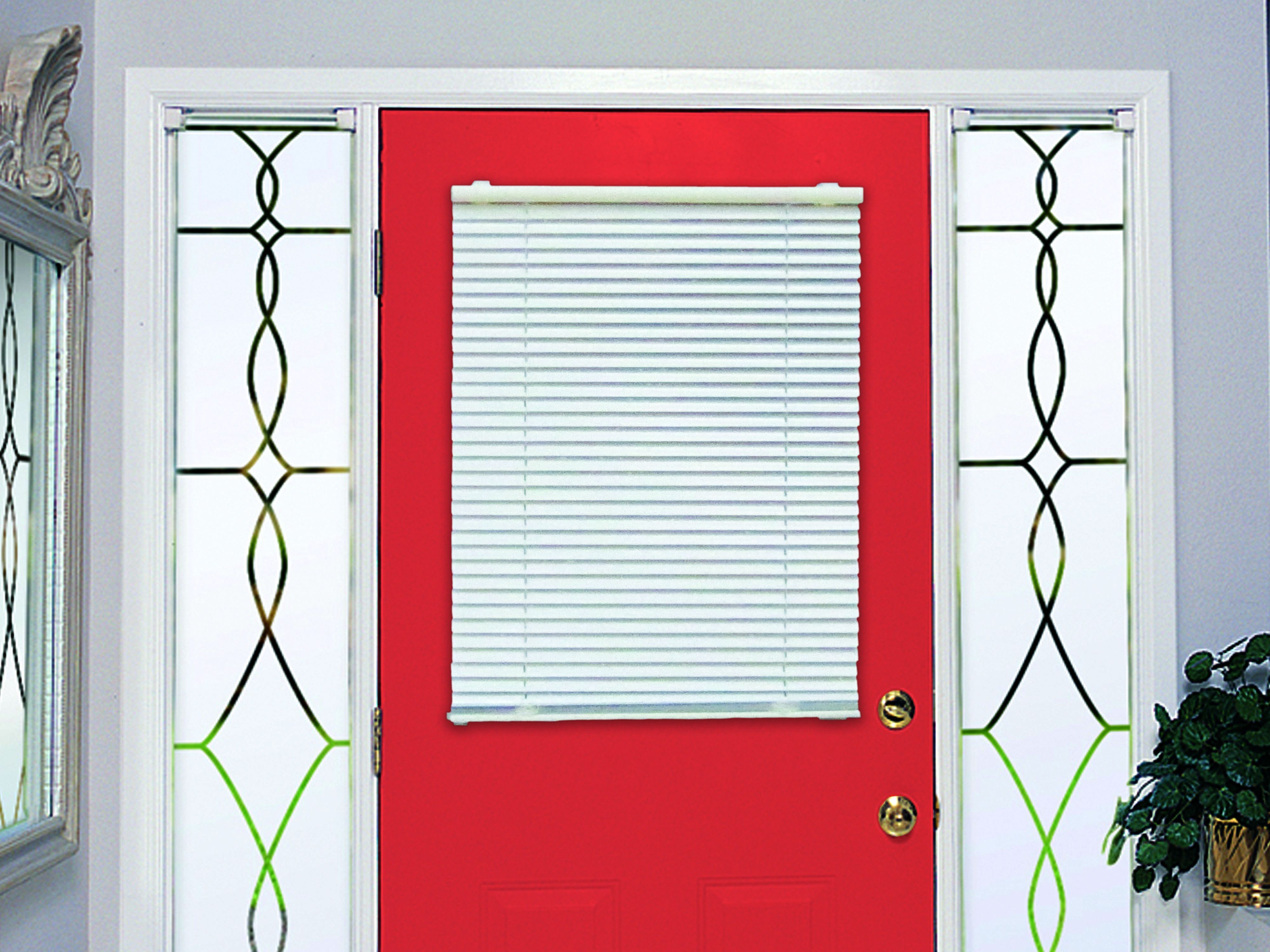 Magneblind cordless magnetic mini blind for metal doors and windows