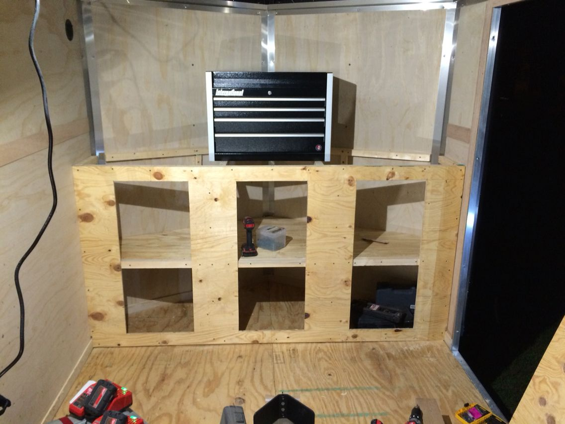 V nose trailer cabinet | Stuff I built | Pinterest | Cargo ...