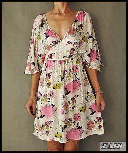 H M Sukienka W Kwiatki I Ptaszki 36 6490183150 Oficjalne Archiwum Allegro Wrap Dress Casual Dress Fashion