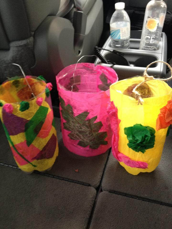 Soda bottle lanterns from a lantern festival