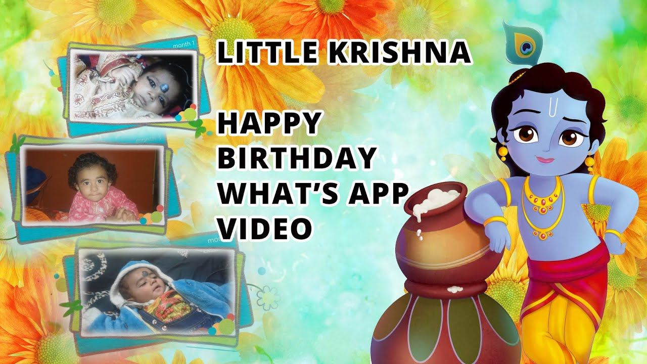 First Birthday whatsapp status Video Invitation 1st