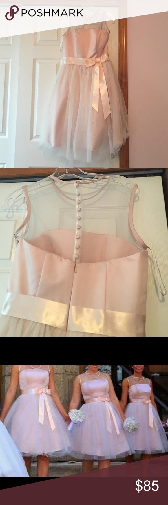 Andrew Adela blush pink bridesmaid dress | Blush pink ...