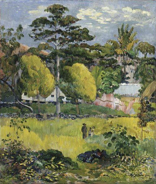 Paysage Paul GAUGUIN (1848-1903) 1901 huile sur toile RF 1963-107