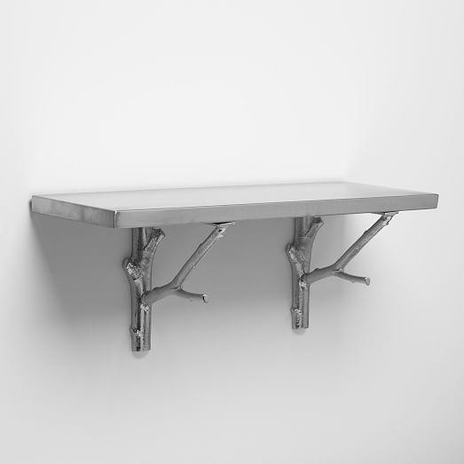 stainless steel shelving brackets westelm
