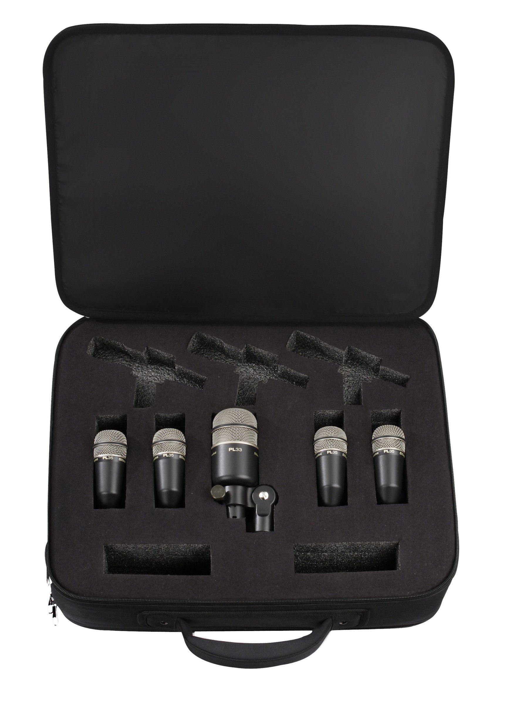 Electro Voice Pl Series Drum Mic Kit 1 Pl33 Kick Drum Mic And 4 Pl35 Snare Tom Mics Music Gear Drums Microphones