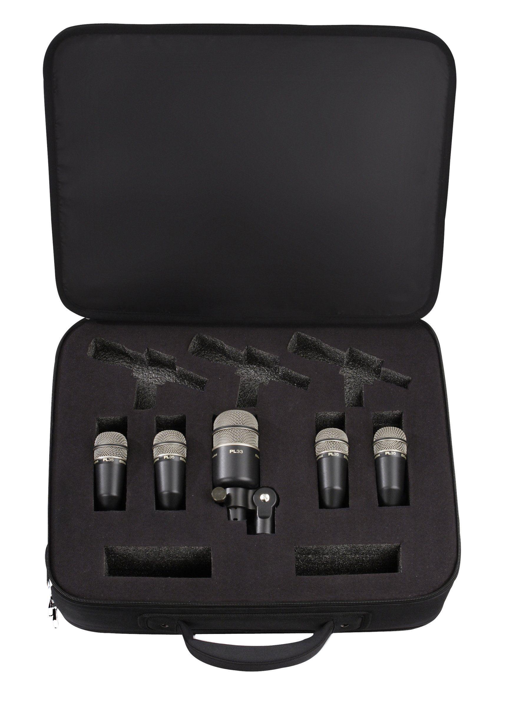 Electro Voice Pl Series Drum Mic Kit 1 Pl33 Kick Drum Mic And 4 Pl35 Snare Tom Mics Music Gear Drums Microphones